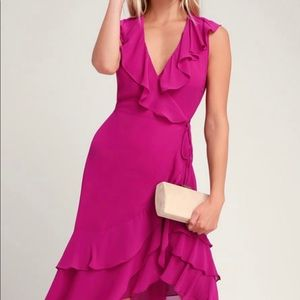 Magenta High-Low dress
